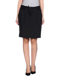 Trussardi Jeans Knee Length Skirts Black