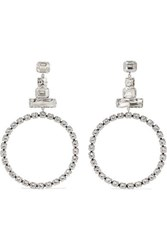 Isabel Marant Silver Plated Crystal Earrings