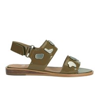 Folk Women's Indra Two Part Patent Leather Sandals Bronze