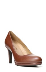 Naturalizer Women's 'Michelle' Almond Toe Pump Caramel Leather