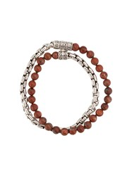 John Hardy Box Chain Wrap Bracelet Red