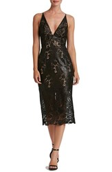 Dress The Population Women's Angela Sequin Lace Midi