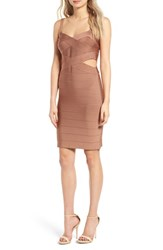 Glamorous Women's Bandage Body Con Dress Copper