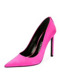 Tom Ford Pointed Toe Satin 105Mm Pump Hot Pink