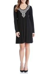 Karen Kane Women's Taylor Embroidered Jersey Dress
