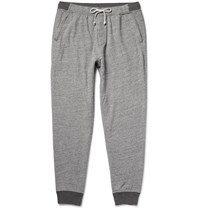 J.Crew Tapered Fleece Back Cotton Blend Jersey Sweatpants Gray