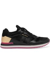 Dolce And Gabbana Calf Hair Leather Sneakers Black