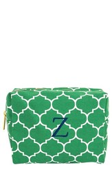 Cathy's Concepts Monogram Cosmetics Case Green Z