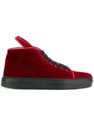Minna Parikka Bunny Ear Hi Top Sneakers Red