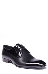 Jared Lang Riccardo Cap Toe Derby Black Leather