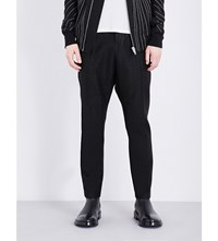 Rick Owens Dropped Crotch Relaxed Jacquard Trousers Black