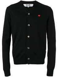 Comme Des Garcons Play Lightweight Cardigan Black