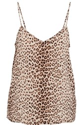 Equipment Layla Leopard Print Washed Silk Camisole