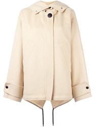 Marni Hooded Oversized Coat Nude Neutrals