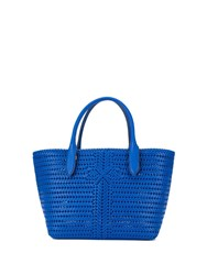 Anya Hindmarch Woven Tote Blue