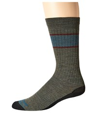 Wigwam Pacific Crest Pro Crew Single Olive Heather Crew Cut Socks Shoes