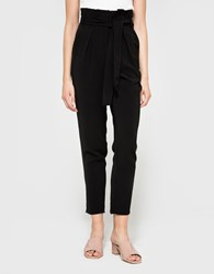 Stelen Belted Cigarette Pants Black