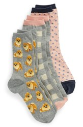 Hot Sox Dogs 3 Pack Socks Grey