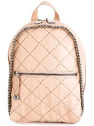 Stella Mccartney 'Falabella' Quilted Backpack Pink And Purple