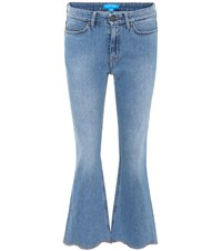 Mih Jeans Marty Cropped Flared Blue