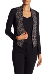 Haute Hippie Ponte Embellished Lapel Jacket Black