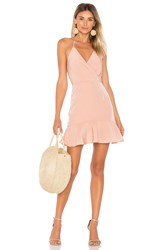 Donna Mizani Avery Ruffle Dress Blush