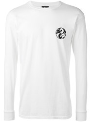 Stussy 'Sk8 Yang' Pigment Dyed Long Sleeve T Shirt Men Cotton S White