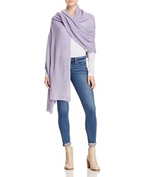 Bloomingdale's C By Cashmere Travel Wrap Marled Violet