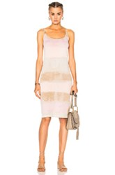 Raquel Allegra Layering Tank Dress In Brown Ombre And Tie Dye Pink Brown Ombre And Tie Dye Pink