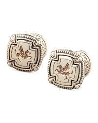 Pegasus Carved Silver Cuff Links Konstantino