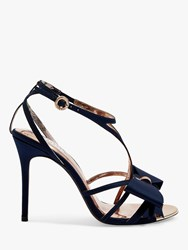 Ted Baker Arayis Bow Stiletto Heel Sandals Navy Blue