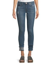 True Religion Jennie Curvy Skinny Leg Jeans With Hem Detail Blue