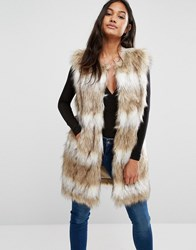 Supertrash Vocean Faux Fur Gilet Beige