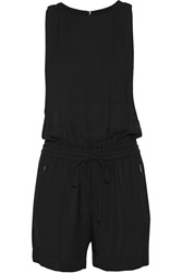 A.L.C. Adam Crepe Playsuit Black