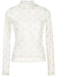 Sandy Liang Sheer Floral Top 60