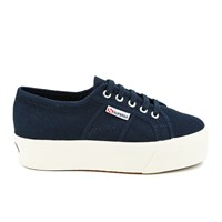 Superga Women's 2790 Linea Up Down Flatform Trainers Navy
