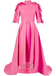 Christian Siriano Petal Evening Gown Pink And Purple