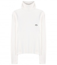 See By Chloe Wool Blend Turtleneck Sweater White