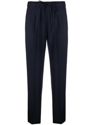 Max Mara Cropped Tailored Trousers Blue
