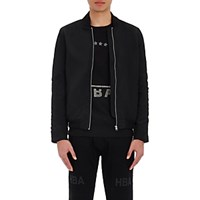 Hood By Air Men's Bomber Jacket Black Blue Black Blue