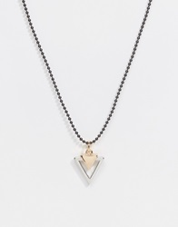 Asos Necklace With Geometric Pendant Multi