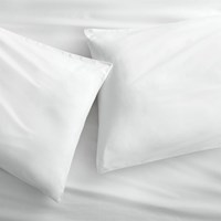 Cb2 Organic White Percale King Pillowcases Set Of 2