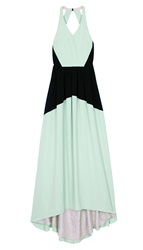 Tibi Matte Colorblock Long Dress