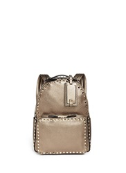 Valentino 'Rockstud' Metallic Leather Backpack