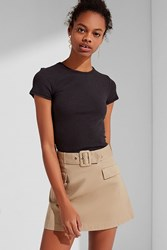 Urban Outfitters Uo Scout Belted Mini Skirt Tan