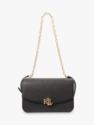 Ralph Lauren Elmswood Madison Leather Shoulder Bag Black