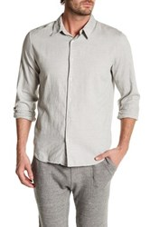 Save Khaki Oxford Simple Classic Fit Shirt Gray