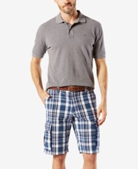 Dockers Men's Stretch Classic Fit Washed Cargo 10.5 Shorts D3 Pate A Montecito Blue