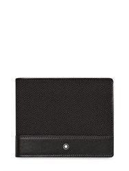 Montblanc 6Cc Leather And Grosgrain Wallet