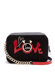 Christian Louboutin Rubylou Mini Leather Cross Body Bag Black Red